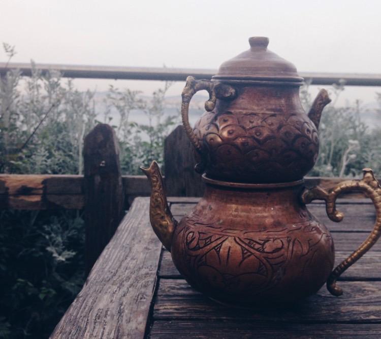 gülhane - bakır demlik çay