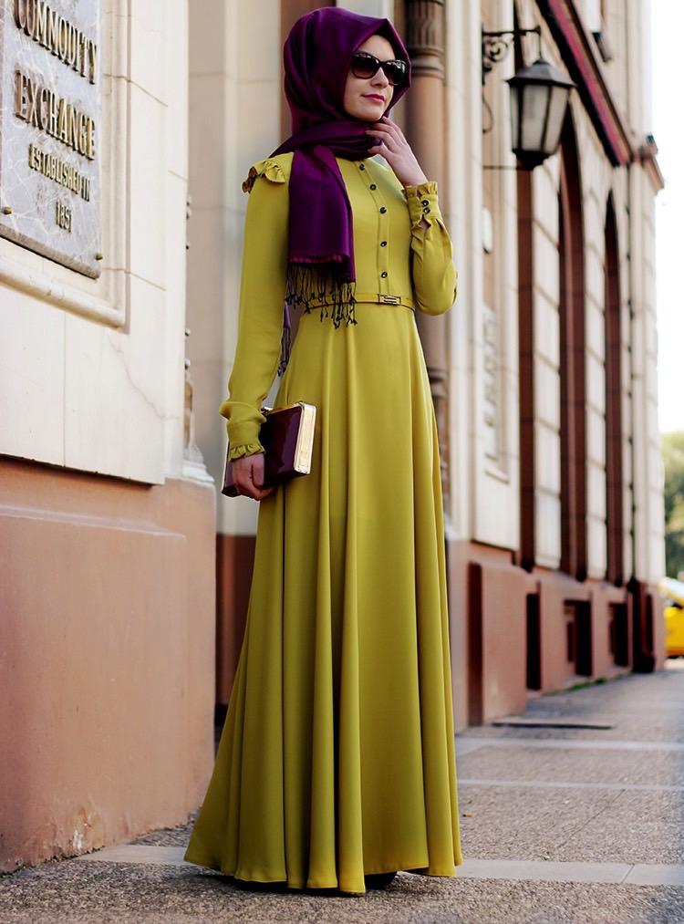 gamze polat fırfırlı elbise